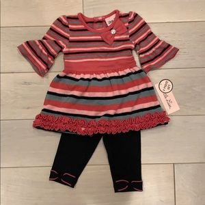 Little Lass sweater top and leggings set